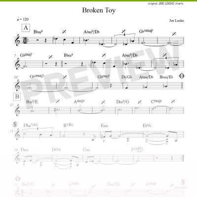 Joe Locke - Broken Toy sheet music