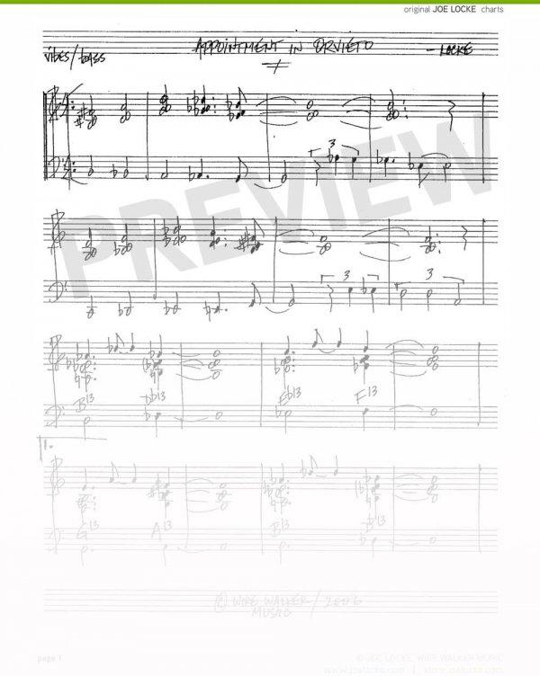 Joe Locke - Appointment in Orvieto sheet music