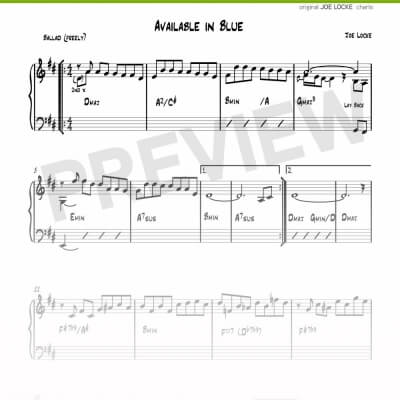 Joe Locke - Available In Blue sheet music