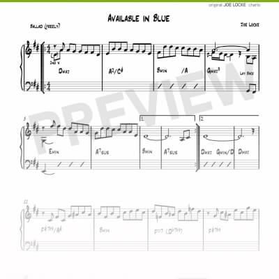 Joe Locke - Available In Blue sheet music