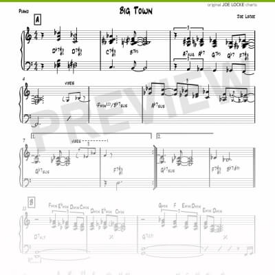 Joe Locke - Big Town sheet music