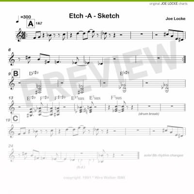 Joe Locke - Etch-A-Scetch sheet music