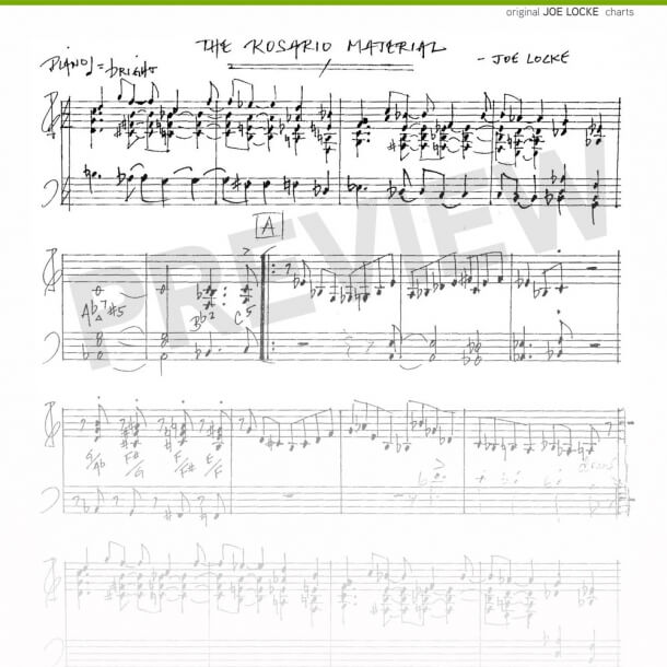 Joe Locke - Rosario Material sheet music