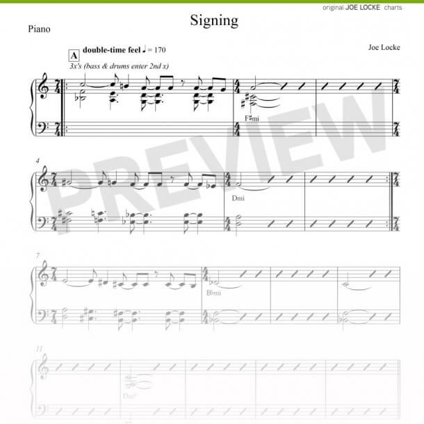 Joe Locke - Signing sheet music