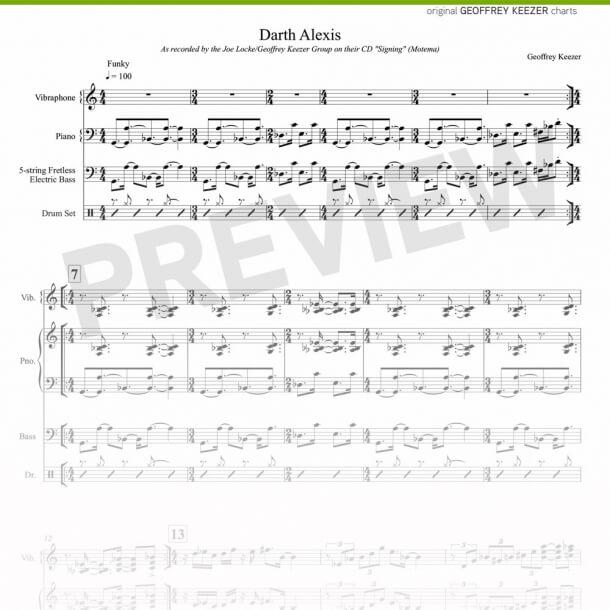 Geoffrey Keezer - Darth Alexis sheet music
