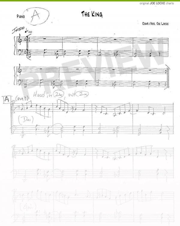 Joe Locke - The King (for T.M.) sheet music