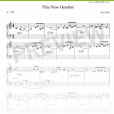 Joe Locke - This New October sheet music