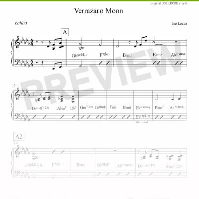 Joe Locke - Verrazano Moon sheet music