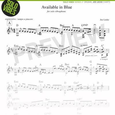 Joe Locke Solo Vibraphone - Available In Blue