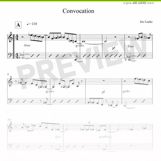 Joe Locke - Convocation sheet music