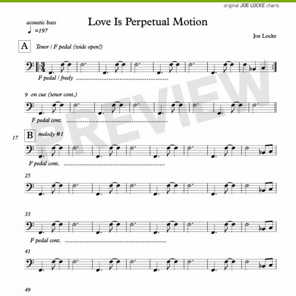 Love Is Perpetual Motion (bass)