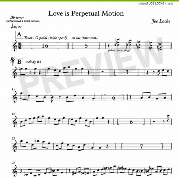 Love Is Perpetual Motion (tenor, melody)