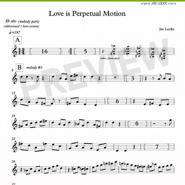 Love Is Perpetual Motion (alto)