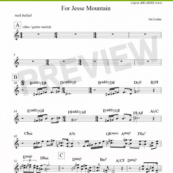 For Jesse Mountain (tenor)