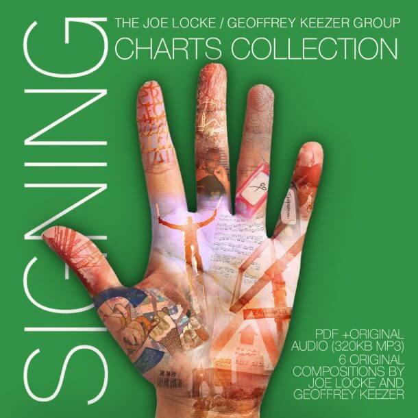 Joe Locke, Geoffrey Keezer SIGNING sheet music