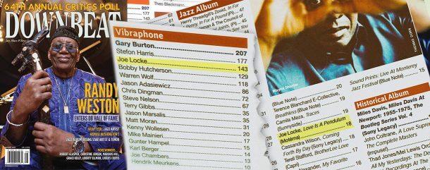 Joe Locke in DownBeat Magazine's Critics Poll