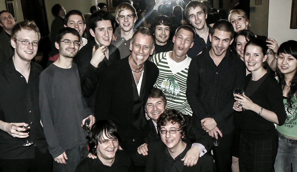 Joe Locke with students of the Royal Academy 2008