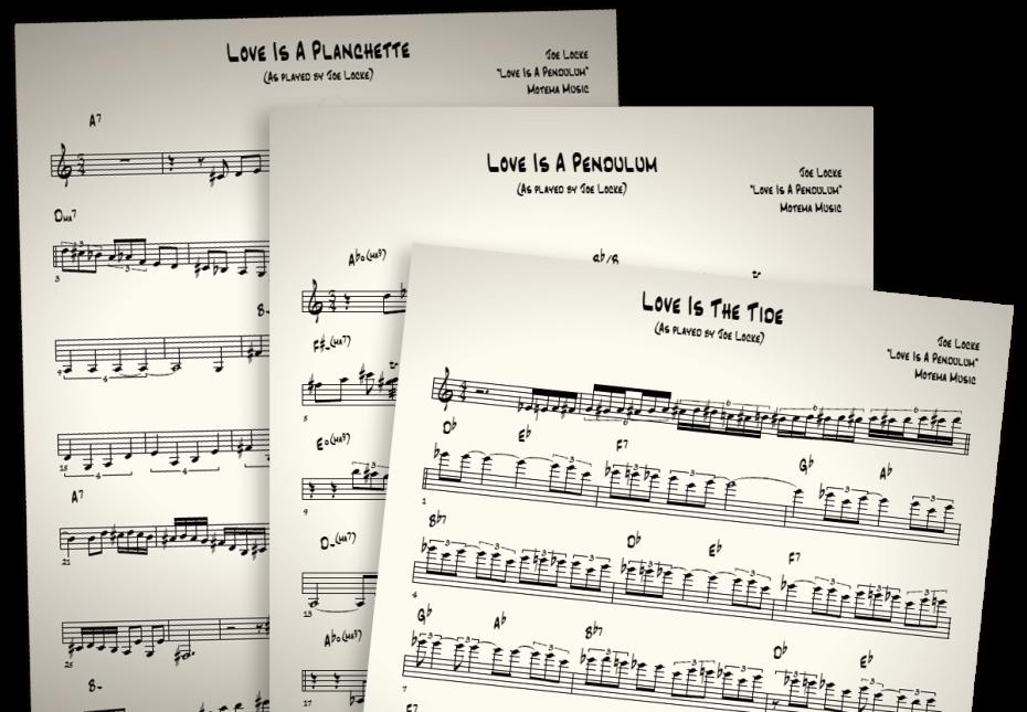 Joe Locke solo transcriptions (transcribes by Gustavo Agatiello)